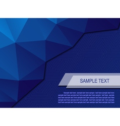 Abstract background with triangular polygons eps10 vector image
