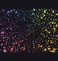 abstract space color dots background vector image