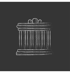 Acropolis of Athens Drawn in chalk icon vector