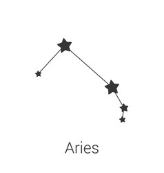 Aries sign constellation isolated icon vector