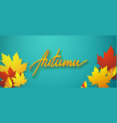 Autumn seasonal typographic vector