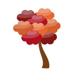 autumn tree symbol vector image