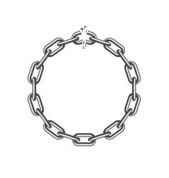 broken round chain vector image