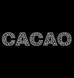 cacao text in polygonal mesh style vector image