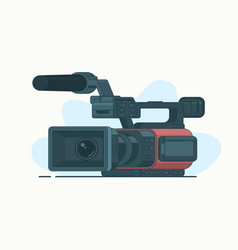 Camcorder or video line icon isolated on white vector
