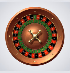 casino roulette wheel isolated gambling wooden vector image