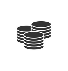 coin stack icon graphic design template vector image