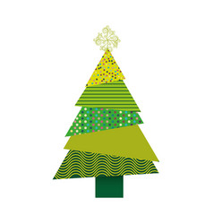 colorful background of abstract christmas tree vector image