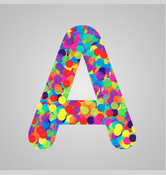 colorful character from a typeset vector image