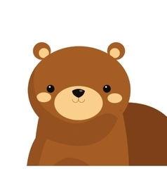 cute bear cartoon icon vector image