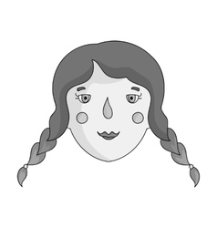 Daughter icon in monochrome style isolated on vector image