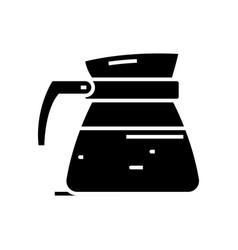 Decanter black icon concept vector