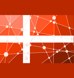 Denmark flag concept vector