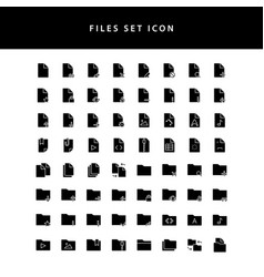 document files icon glyph style set vector image