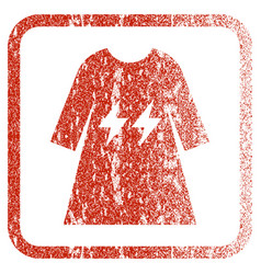 Electric energy girl dress framed textured icon vector