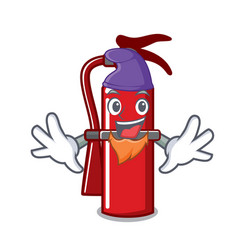 Elf fire extinguisher character cartoon vector