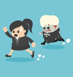Escaping zombie vector image