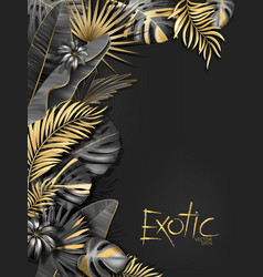 Exotical background with black and gold vector