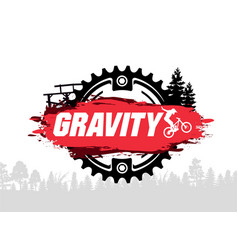 Extreme mountain biking design downhill freeride vector