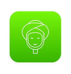 facial spa treatment icon green vector image