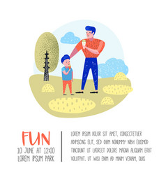 family outdoor activity poster banner walking vector image