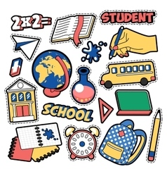 Fashion Badges Patches Stickers Education School vector image