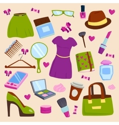 Girls clothes dress isolated vector image