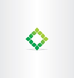 green square leaf logo icon vector image