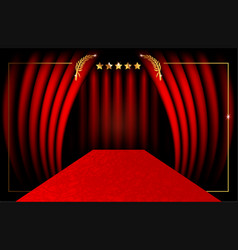 Hollywood luxury and elegant red carpet vip event vector