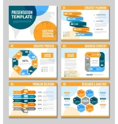 Infographic Presentation Set vector image