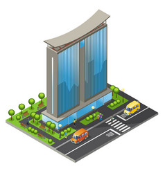 isometric office building concept vector image