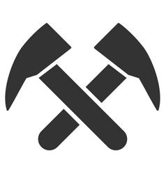 Job hammers flat icon vector