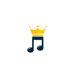 King music logo icon design vector