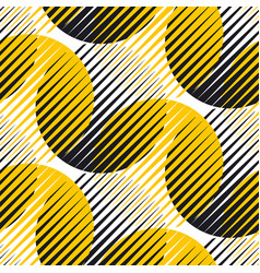 line and circle geometric seamless pattern vector image