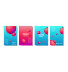 liquid abstract backgrounds color covers set vector image