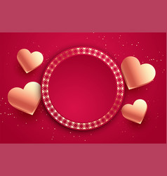 love hearts valentines day card with text space vector image