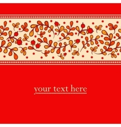 Lovely autumn background with cranberries vector image