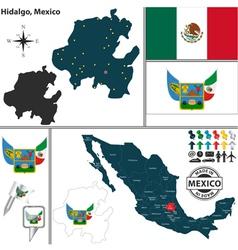 Map of Hidalgo vector image