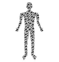 Megaphone man figure vector