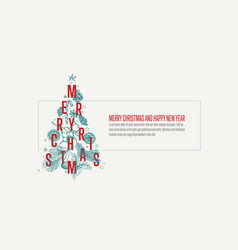 modern christmas card template with tree vector image
