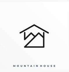 mountain house template vector image