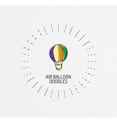 Multicolored hand-drawn doodles icon vector