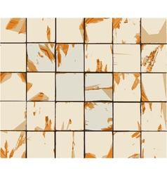Multiple abstract combined orange beige tile vector