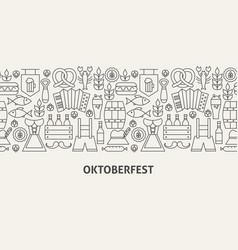 oktoberfest banner concept vector image