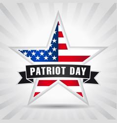 Patriot day usa star ribbon vector