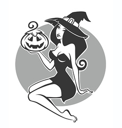 pretty witch vector image