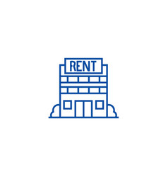 Real estate rent line icon concept real estate vector