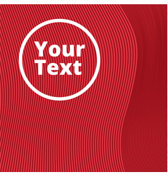 Red background of lines and waves vector