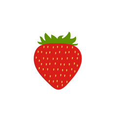 red strawberry icon isolated background modern s vector image