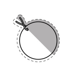 round tag price discount cut line vector image